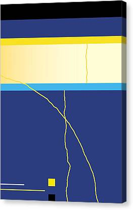 Symphony In Blue - Movement 2 - 2 Canvas Print