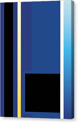 Symphony In Blue - Movement 2 - 3 Canvas Print
