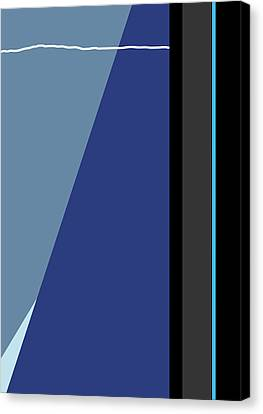 Symphony In Blue - Movement 3 - 3 Canvas Print