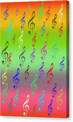 Canvas Print featuring the digital art Symphony Of Colors by Angel Jesus De la Fuente