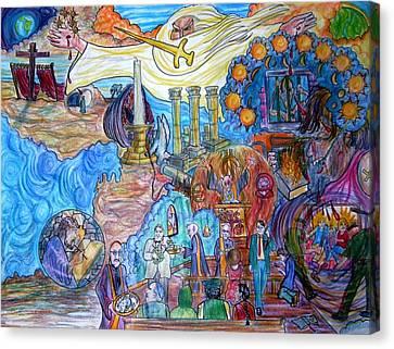 Synagogue Of Satan. Canvas Print by Richard  Hubal