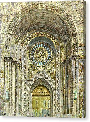 Canvas Print featuring the mixed media Synagogue by Tony Rubino