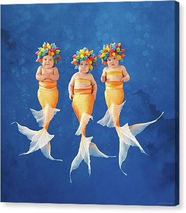 Synchronized Swim Team Canvas Print