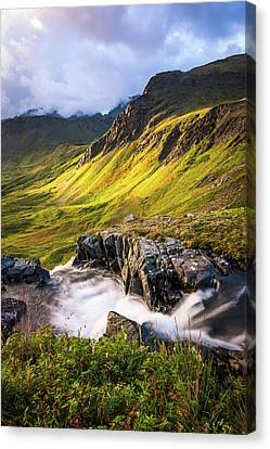 Canvas Print featuring the photograph Synclavier Foothills by Tim Newton