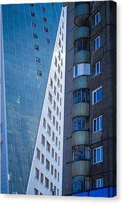Canvas Print featuring the photograph Synergy Between Old And New Apartments by John Williams
