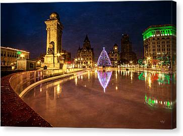 Syracuse Christmas Canvas Print by Everet Regal