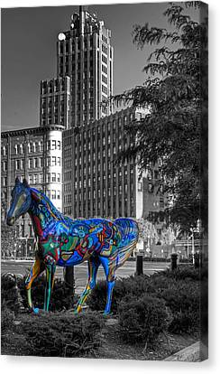 Canvas Print featuring the photograph Syracuse Horse by Don Nieman