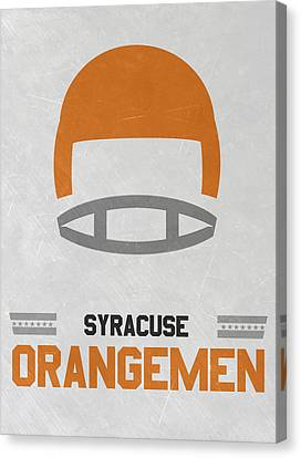 March Canvas Print - Syracuse Orangemen Vintage Football Art by Joe Hamilton