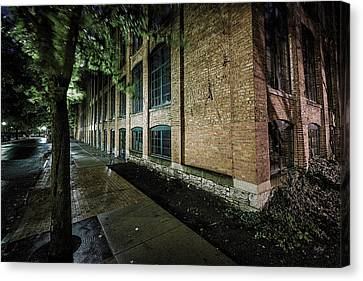 Canvas Print featuring the photograph Syracuse Sidewalks by Everet Regal