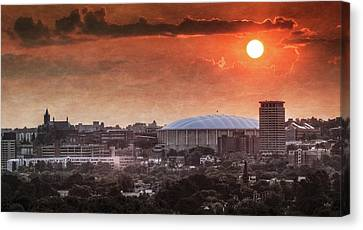 Syracuse Sunrise Over The Dome Canvas Print by Everet Regal