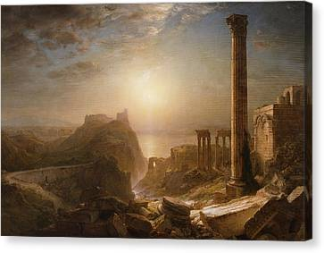 Syria By The Sea Canvas Print by Frederic Edwin Church