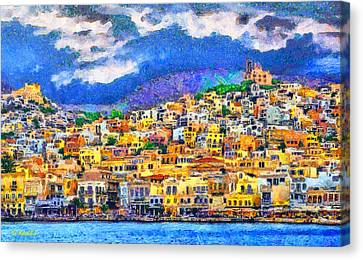 Syros Canvas Print by George Rossidis