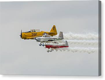 T-6 Texan   Rv-8   Dr-107 Canvas Print by Susan  McMenamin