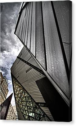 T Dot Tangram Canvas Print by Russell Styles
