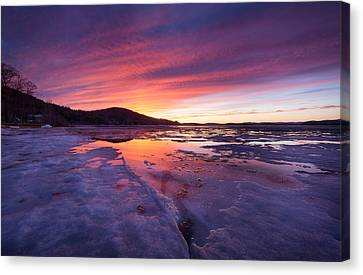 Canvas Print featuring the photograph T H A W by Robert Clifford