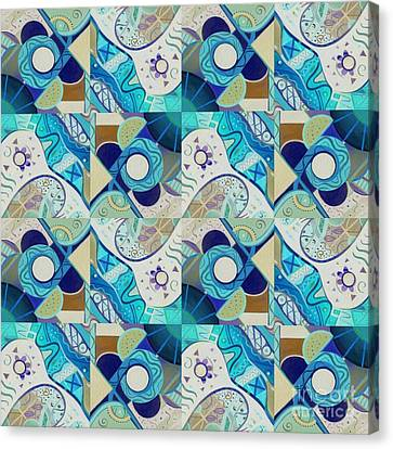 The Nature Center Canvas Print - T J O D Tile Variation 2 Inverted by Helena Tiainen