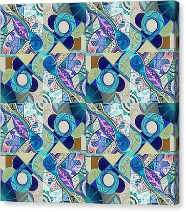 T J O D Tile Variation 4 Inverted Canvas Print by Helena Tiainen
