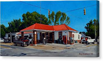 T. R. Lee Service Station Canvas Print by Doug Strickland