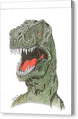 T-rex Dinosaur Canvas Print by Bill Hubbard