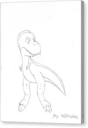 T-rex Canvas Print by Jayson Halberstadt