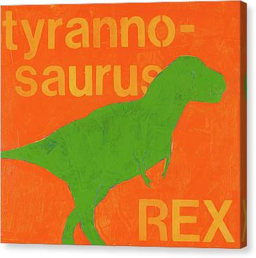 T Rex Canvas Print by Laurie Breen
