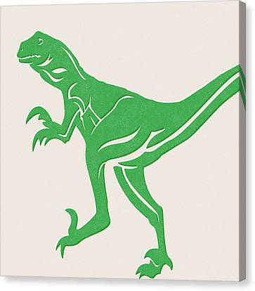 Kid Wall Art Canvas Print - T-rex by Linda Woods