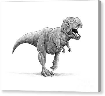 Ipad Design Canvas Print - T-rex by Michael Ciccotello