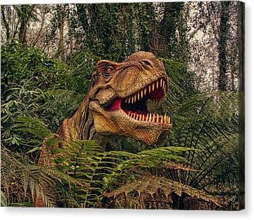 T-rex Canvas Print by Sharon Lisa Clarke
