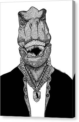 T Rex The Awesome Dinosaur Canvas Print by Karl Addison
