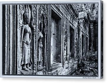 Canvas Print featuring the photograph Ta Phrom Cambodia by Kathy Adams Clark