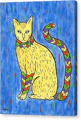 Tabby Kat Canvas Print by Susie WEBER