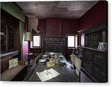 Abandoned House Canvas Print - Table For Four - Abandoned Building by Dirk Ercken