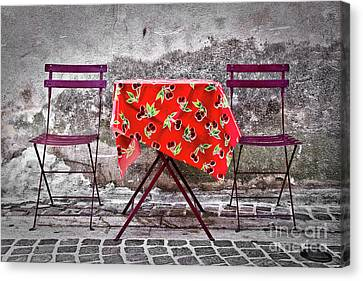 Table For Two Canvas Print by Delphimages Photo Creations