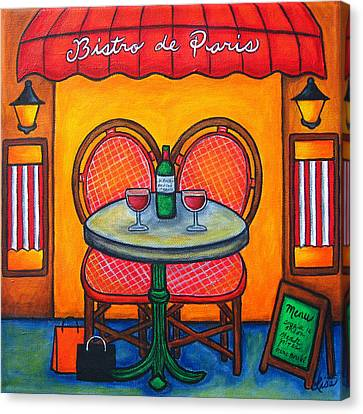 Canvas Print - Table For Two In Paris by Lisa  Lorenz