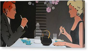 Table For Two Canvas Print by Varvara Stylidou