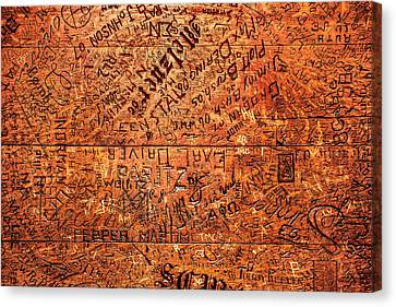 Table Graffiti Canvas Print