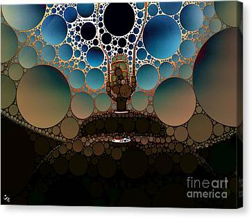 Table Lamp Canvas Print by Ron Bissett