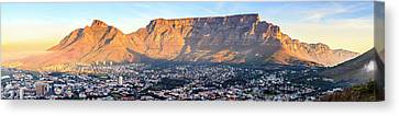 Canvas Print featuring the photograph Table Mountain by Alexey Stiop