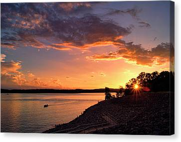 Canvas Print featuring the photograph Table Rock Sunset by Cricket Hackmann