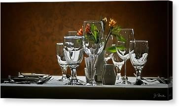 Canvas Print featuring the photograph Table Setting by Joe Bonita