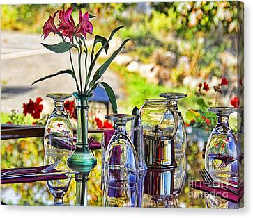 Table Setting Reflections Signed 3041 18x24 Canvas Print by Jack Schultz