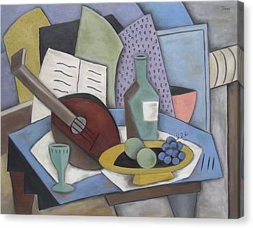 Table With Mandolin Canvas Print by Trish Toro