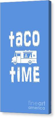 Taco Time Food Truck Tee Canvas Print by Edward Fielding