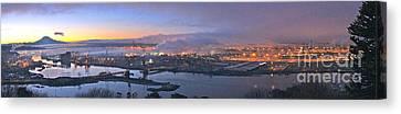 Tacoma Dawn Panorama Canvas Print by Sean Griffin