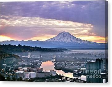 Tacoma Dawn Canvas Print by Sean Griffin