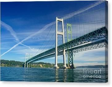 Tacoma Narrows Bridge Canvas Print by Sean Griffin