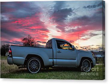 Toyota Tacoma Trd Truck Sunset Canvas Print