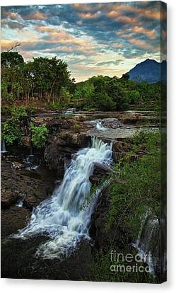 Tad Lo Waterfall, Bolaven Plateau, Champasak Province, Laos Canvas Print by Sam Antonio Photography