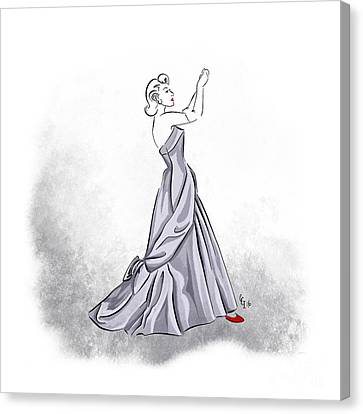 Taffeta Gown Canvas Print by Cindy Garber Iverson
