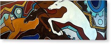 Taffy Horses Canvas Print by Valerie Vescovi